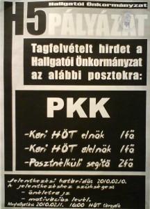 PKK tagfelvételi pályázat